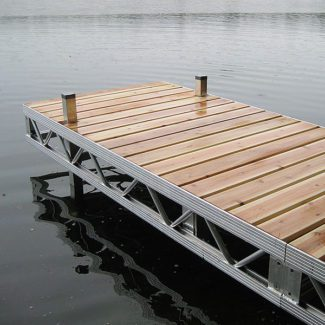 Ridgeline premium dock with cedar decking