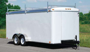 Atlas Enclosed Car Hauler White