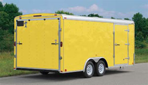 Atlas Enclosed Car Hauler Yellow