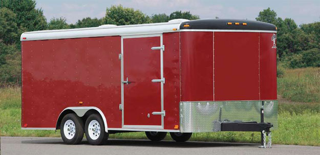 Atlas Enclosed Car Hauler Red