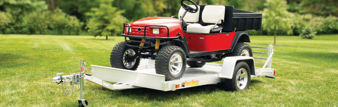 Bear Track utility trailer with golf cart
