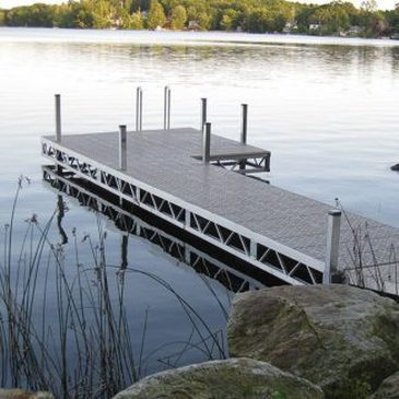 Ridgeline Premium Dock with maintenance free decking