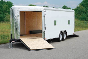 Atlas Snowmobile Trailer Front Side Ramp Door