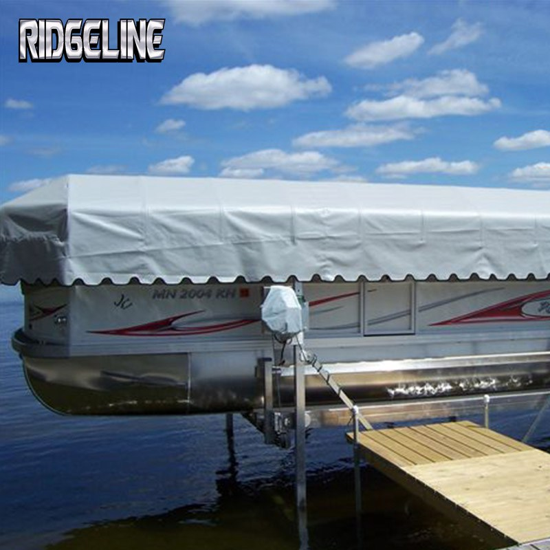 Ridgeline pontoon lift canopy cover with endless color options