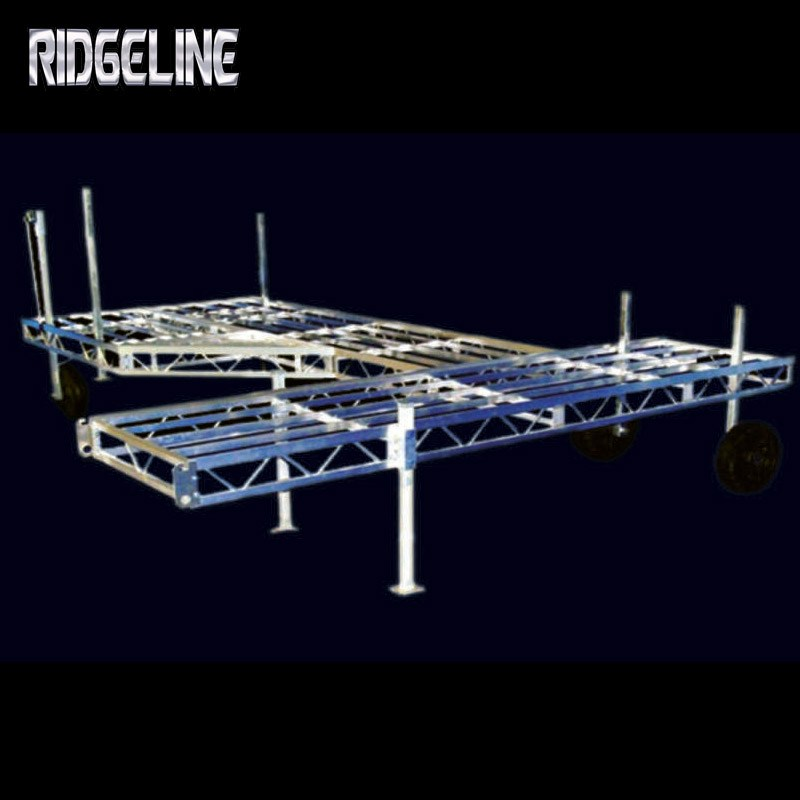 Ridgeline dock mounting brackets every four feet